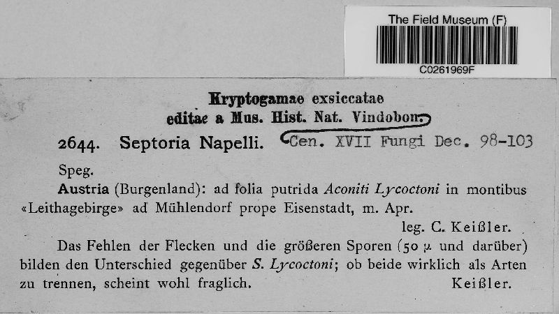 Septoria napelli image